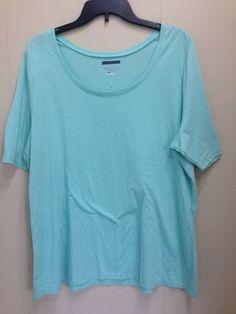 95bb7692538 Lane Bryant Women s Knit Top Tee Shirt Plus 14 16 18 20 Short Sleeve