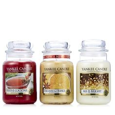 706566 - Yankee Candle Set of 3 Holiday Party Large Jars - QVC Price: £50.00  Event Price: £39.96 + P&P: £5.95 or 4 Easy Pays of £9.99 +P&P  A trio of festive fragrances from Yankee Candle including their zesty All Is Bright, Festive Cocktail combining berries with pine and vanilla, plus Star Anise & Orange oozing Christmas flavours. This medley of scents are perfect for transforming your home over the jolly season or splitting up as gifts.