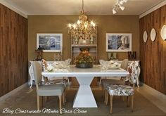 Construindo Minha Casa Clean: Salas de Jantar Decoradas com Mesas Brancas!!! Veja Dicas e Modelos!