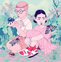 Fantasy and Intriguing Characters in Illustrations by Eero Lampinen