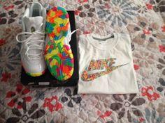 Nike Lil' Posite One Baby Foamposite Infant Fruity Pebbles Size 5Y set #Nike  #