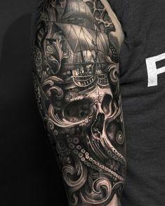 Black and grey tattoo Mumia