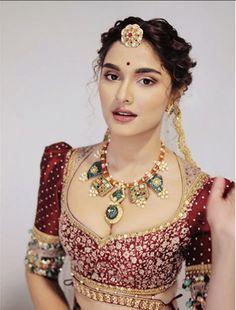 Saiee Manjrekar debut at the Lakme Fashion Week 2020 Indian Bridal Outfits, Indian Bridal Fashion, Indian Bridal Makeup, Fancy Blouse Designs, Bridal Blouse Designs, Saree Blouse Designs, Desi Wedding Dresses, Bridal Dresses, Wedding Hijab