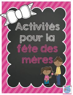 FRENCH Mother's day / Fête des mères Activity in french (français) Mothers Day Crafts, Crafts For Kids, Cadeau Parents, Josephine, French Resources, Super Mom, Learn French, Code Secret, Preschool