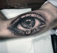 40 amazingly well-done eye tattoo designs plus the meaning and rich history behind them throughout different cultures, find out what each design means and check out some of the best eye tattoos done by top tattoo artists from around the world. Arm Sleeve Tattoos, Tattoo Sleeve Designs, Tattoo Designs Men, Tattoo Design Drawings, Bild Tattoos, Top Tattoos, Tattoos For Guys, Tatoos, Eye Tattoo Meaning