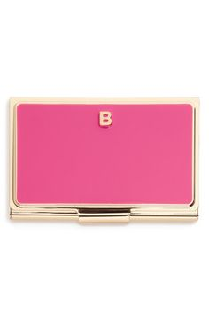 Thinking that this kate spade new york 'one in a million' card holder is the perfect gift idea for friends in business! Choosing the single initial monogram that suites them best is a sweetest touch. Design Social, Web Design, Business Card Holders, Business Cards, Card Storage, Young Professional, New York S, Monogram Initials, One In A Million