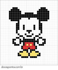 A cute and simple pattern that can be used for cross-stitch! This could probably be stitched in a couple of hours, Now to find Minnie!