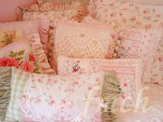 Our Princess suite Guest Bedroom {A girl can never have too many pretty pillows}