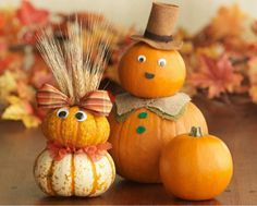 Cutest pumpkin family!