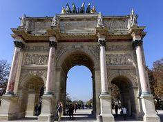 Arc De Triomphe Du Carrousel  In Paris France Photograph