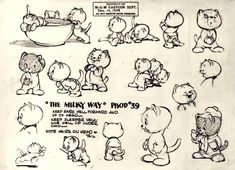 Enjoy a gallery of 100 Original Cartoons Model Sheet from Walt Disney Animation Studio, MGM & more...