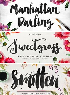 These three fonts are selling like hot cakes bundled for 50% off at only $19!
