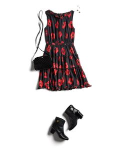 We're doing a little dance about this Kate Spade poppy print number, too.