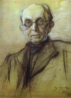 Portrait of K. Pobedonostsev, 1902 Valentin Serov