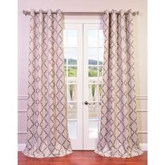 Seville Damask Tan Blackout Grommet Curtain Panel - Overstock™ Shopping - Great Deals on EFF Curtains