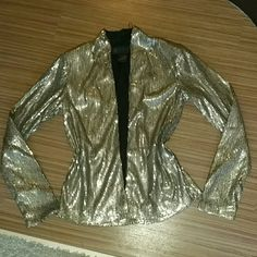 Kardashian Kollection Sequin Jacket NWOT New without tag Kardashian Kollection Sequin Jacket.Base fabric is black and sequins are bronze/gold.Great for holidays! Kardashian Kollection Jackets & Coats