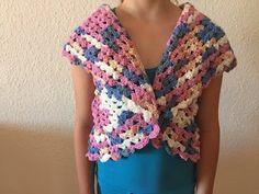 Tuto top, blouse au crochet spécial gaucher 4/4 - YouTube