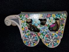 Vintage Cardboard Perfume & Wagon by VintageBarnYard on Etsy