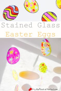Stained Glass Easter Eggs Kids Craft   A Little Pinch of Perfect