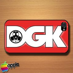 New Red DGK Logo Custom iPhone 4 or 4S Case Cover #phonecase #iphone4case