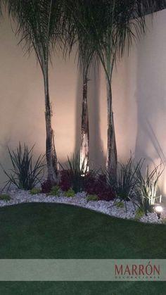 Exterior Design Backyard Landscaping Beautiful 27 Ideas For 2019 Landscaping Trees, Tropical Landscaping, Front Yard Landscaping, Privacy Landscaping, Farmhouse Landscaping, Backyard Privacy, Back Gardens, Small Gardens, Outdoor Gardens