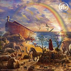 "Our parent company, Art Brand Studios is proud to introduce Zac Kinkade's first Limited Edition Art release – ""Noah's Ark"". Zac's premier painting captures the wonder of the beloved Bible story and is the first in a suite of four images that pays tribute to important Biblical narratives."
