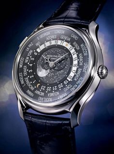 Patek Philippe - World Time Moon. A special model created to commemorate the 175th anniversary.