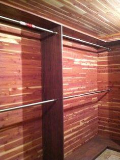 Custom walk-in Cedar Closet for the basement [this one also has a cedar ceiling]