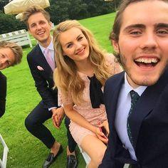 Alfie, Niomi, Marcus and Caspar at the wedding.