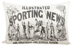Sporting News Cotton Lumbar Pillow