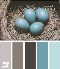 Ideas Painting Ideas For Walls Bedroom Colour Schemes Design Seeds Design Seeds, Deco Design, Design Design, Wall Design, Chair Design, Graphic Design, Color Pallets, Brown And Grey, Blue Grey