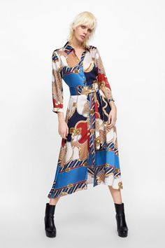 Item specifics Brand Name: None Pattern Type: Geometric Model Number: New african women's clothing Zara Outfit, Printed Skirt Outfit, Printed Skirts, Vestidos Vintage, Vintage Dresses, Camisa Formal, Casual Dresses, Summer Dresses, Frack