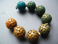 Colorshift Bead Set by PolymerClay4You on Etsy