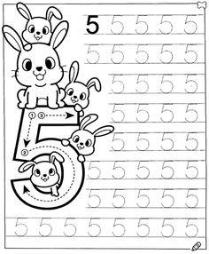 Preschool Number Worksheets, English Worksheets For Kids, Preschool Writing, Numbers Preschool, Preschool Learning Activities, Preschool Lessons, Kids Writing, Kids Daycare, Math For Kids