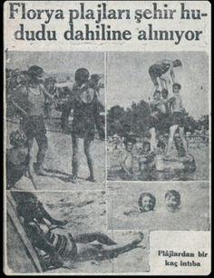 """Florya Plajları şehir hududu dahiline alınıyor"" İnkılap (1930) #istanbul #istanlook #eskihaberler Turkey History, Istanbul Turkey, Nostalgia, Once Upon A Time, Old Photos, Black And White, World, 1970s, Poster"