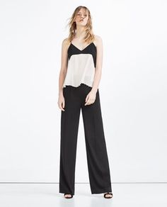 CONTRAST PLEATED CAMISOLE TOP-WEAR TO WORK-WOMAN | ZARA United States