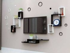 20 Pretty Ideas to Decorate With Floating Shelves, That Make Storage Look Attrac. - 20 Pretty Ideas to Decorate With Floating Shelves, That Make Storage Look Attractive – Modernity - Tv Unit Decor, Tv Wall Decor, Tv Wall Design, Wall Shelves Design, Tv Wall Shelves, Tv Shelf, Display Shelves, Tv Wanddekor, Tv Unit Furniture Design