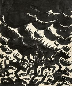 "blastedheath: "" Frans Masereel (Belgian, 1889-1972), Menace, c.1917-18. Ink drawing, 30.5 x 25.5 cm. """