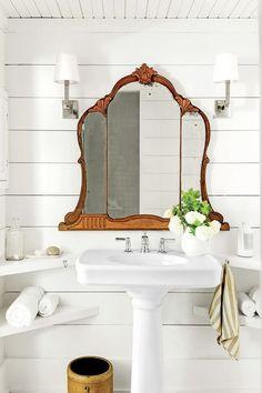 Could This New Bathroom Trend Be the Next Claw-Foot Tub? via @MyDomaine #repurposedfurnitureforbathroom