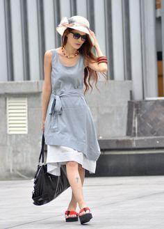 Double-deck Vest Long Dress $68.99  Sophiaclothing   Beautiful Clothing for Women