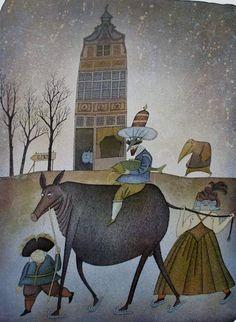 Adolf Born - Maler, Grafiker, Illustrator, Auf dem Weg nach Gent