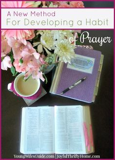 "Developing a consistent habit of prayer is not an easy task, at least not for me. It's something I've always seemed to struggle with, either because I just didn't make the time for it or I didn't really know how to do it ""right"". Prayers and how to pray Prayer Closet, Prayer Room, Faith Prayer, My Prayer, Prayer Board, Christian Living, Christian Life, Lds, Bibel Journal"