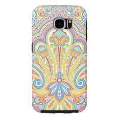 Ornate Hand Drawn Paisley Floral Motif Samsung Galaxy S6 Case - fun gifts funny diy customize personal
