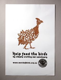 help feed the birds fish gate world of birds south africa affichage billboard ambient marketing outdoor 2 #type