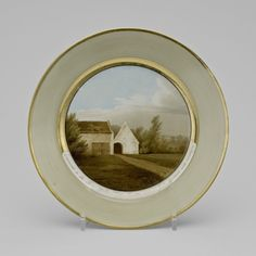 Chamberlain & Co.: Worcester (c. 1786-1852) - Battle of Waterloo commemorative plate