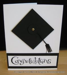 Stamp & Scrap with Frenchie: Graduation card in 2 minutes