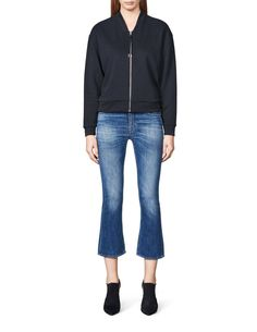 Women's zipped sweatshirt in cotton-blend. Darning, Sweatshirts, Fit, Pants, Fashion, Trouser Pants, Moda, Shape, Fashion Styles