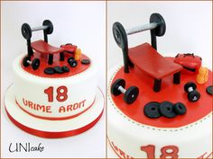A52.   Kuntosali-aiheinen kakku täysi-ikäiselle.  Gym-themed cake