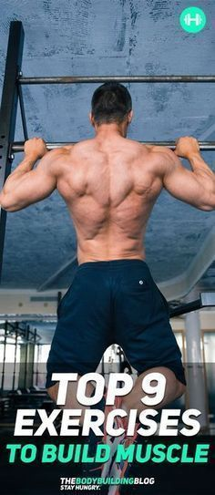 Check out The Top 9 Exercises to Build Muscle! #fitness #gym #muscle #exercise #exercises #workout
