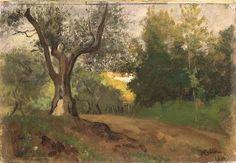 Vincenzo Cabianca - Paesaggio dei dintorni di Firenze 1866